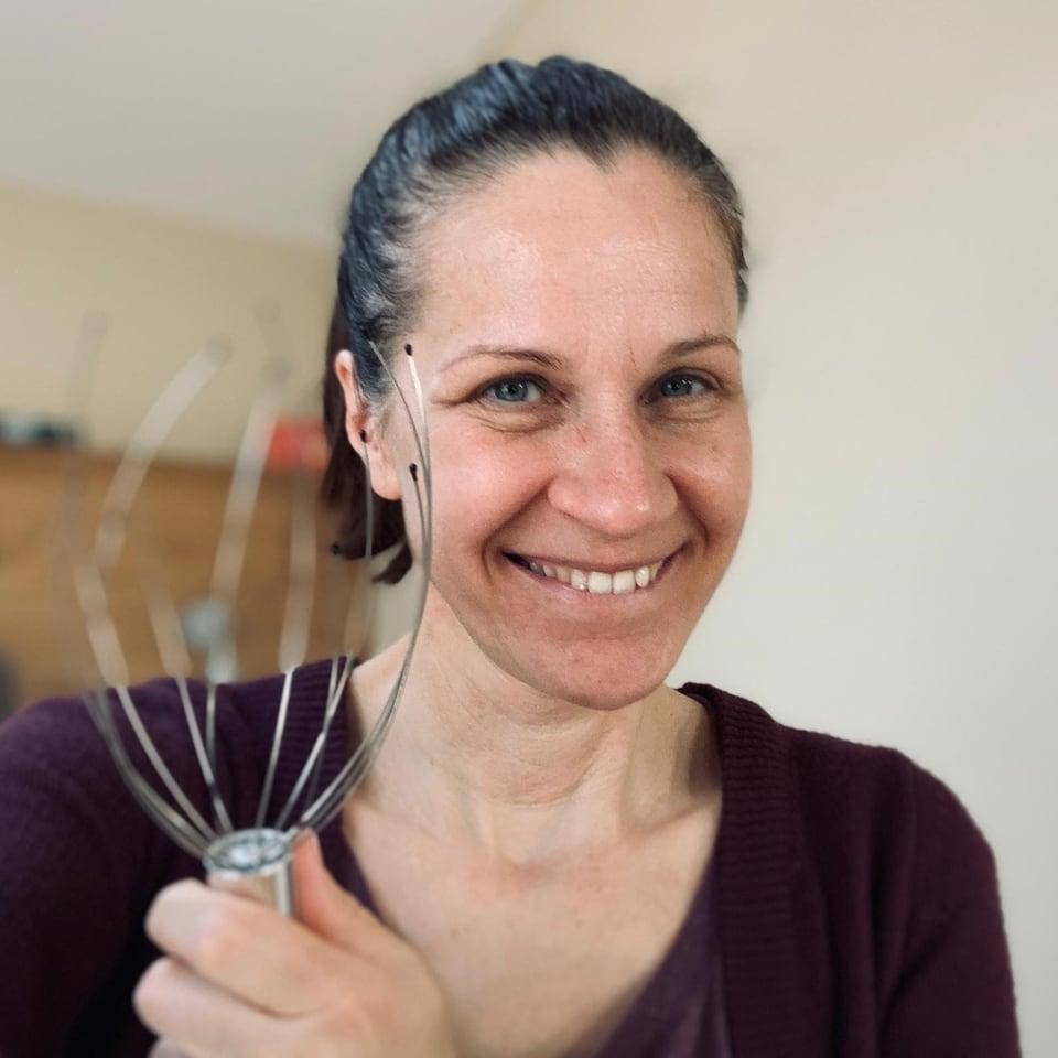 Chrissi Sokoll mit Kopfkrauler