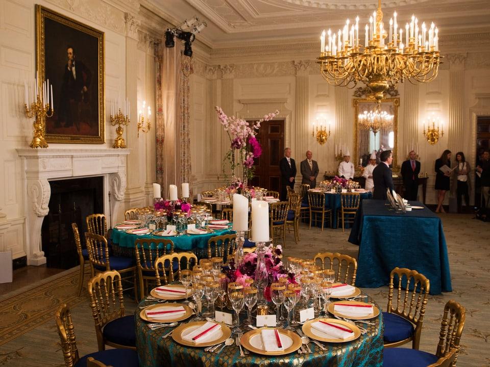 Der Esssaal im Weissen Haus.