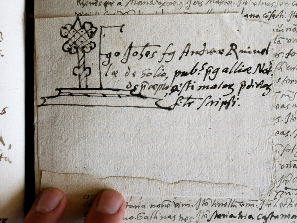 Ensaina notariala da Johannes Ruinella.