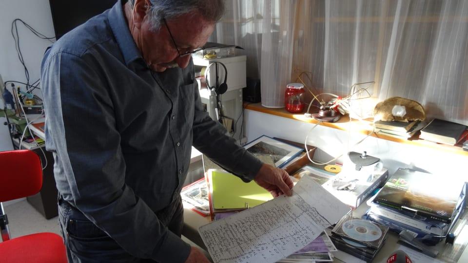 Hans Cadetg mussa in document vegl ord sia rimnada.