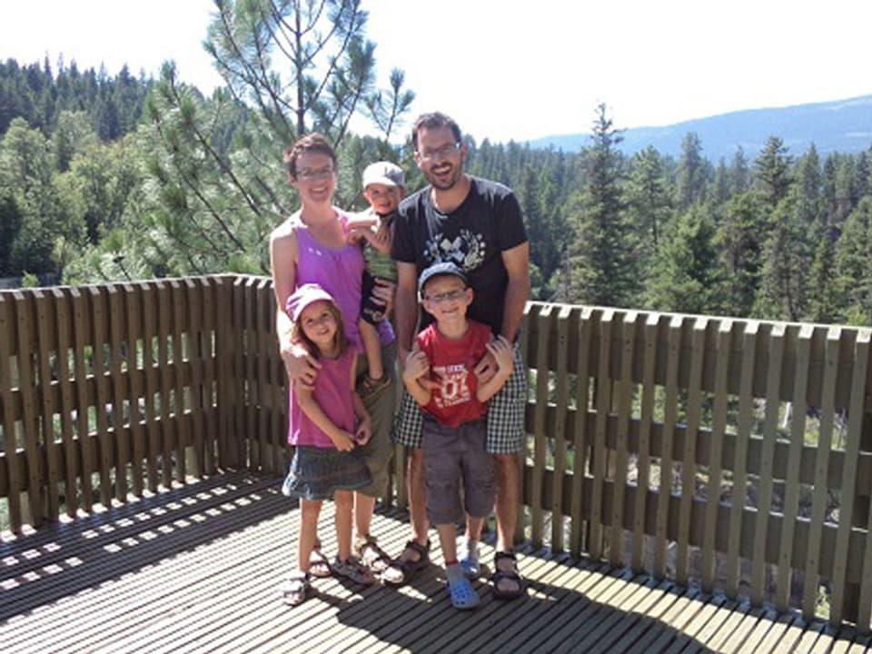 Robin Arpagaus e sia famiglia.