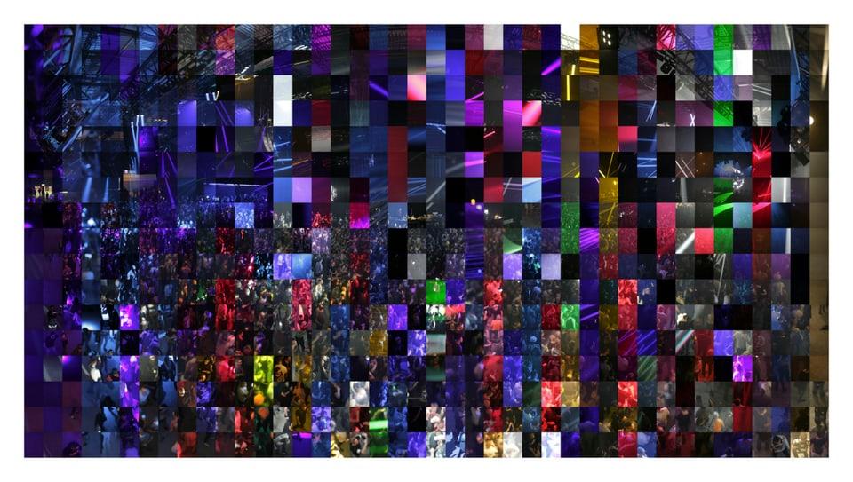 Il festival da musica «Tanzboden» en Germania, ord la seria «Precarious Fields» da Jules Spinatsch, 2015.