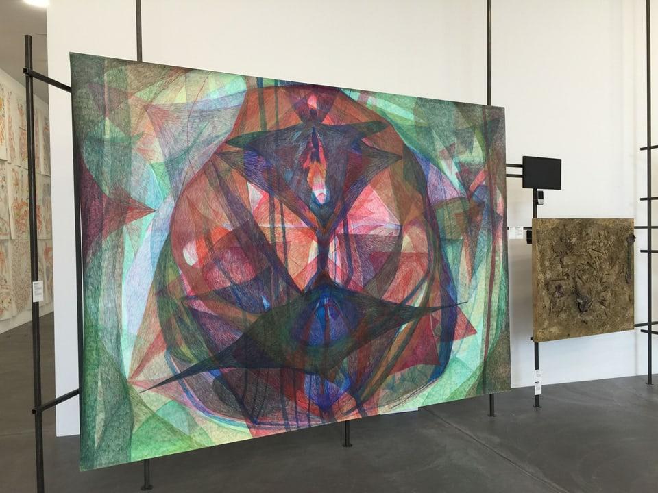 Bild mit abstrakter Kunst an der Manifesta.