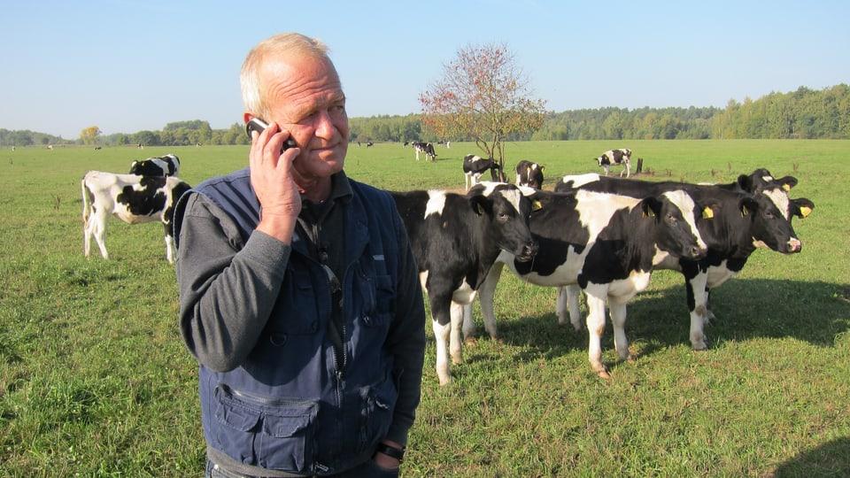 """Hans Michels Betrieb """"Schweizer Milch"""" gilt heute in der Region Kaluga, südlich von Moskau, als Vorzeigebetrieb."""