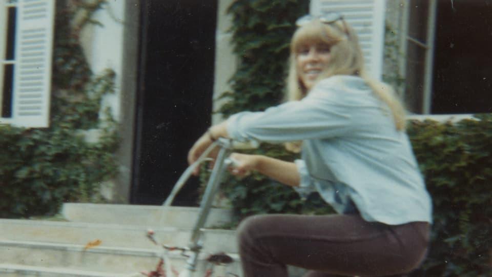 Silvia auf dem Fahrrad