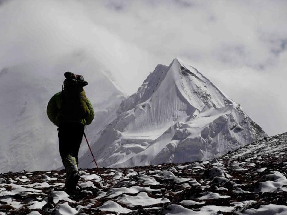 Alpinist unterwegs.