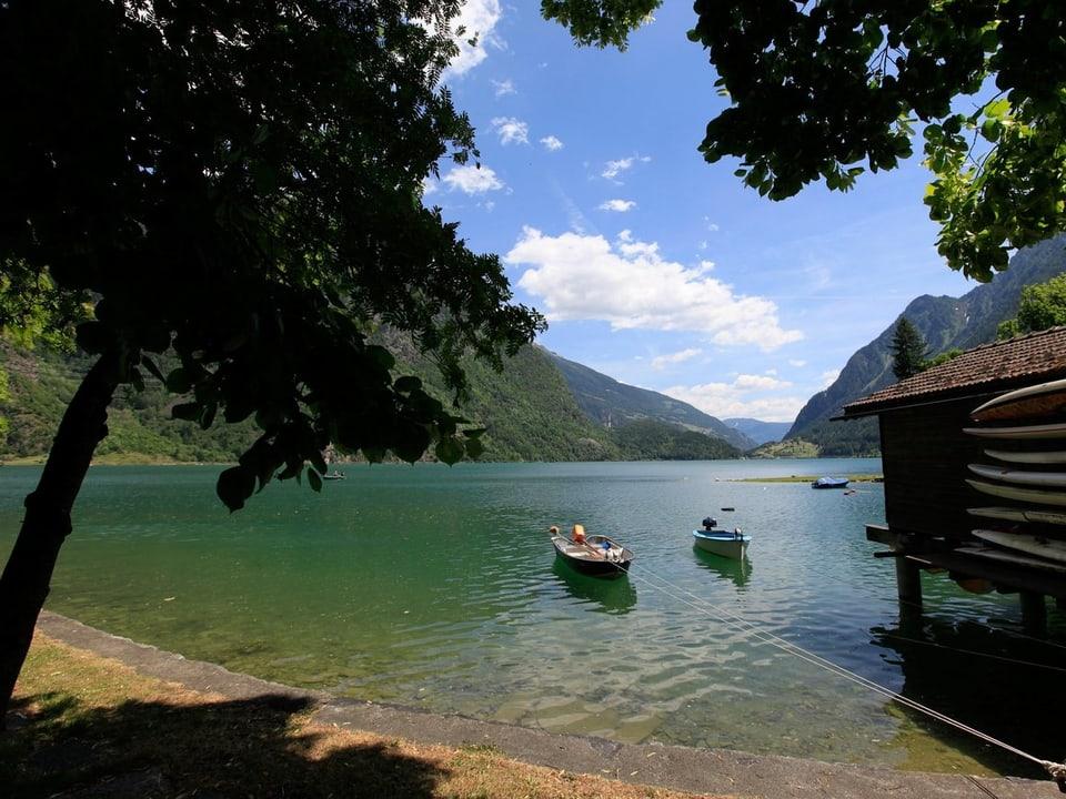 Blick auf den Lago Posciavo.