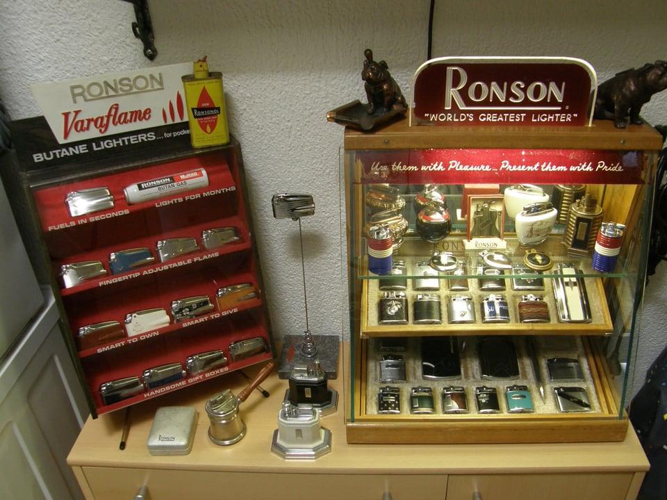 Sammlung von Ronson-Fahrzeugen.