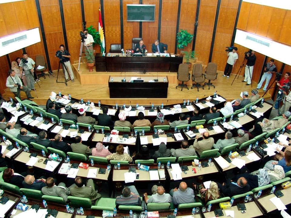 Parlamentssitzung der Autonomen Region Kurdistan