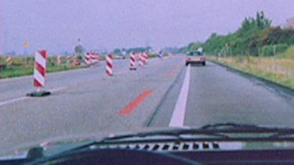Verkehrssituation (Foto von Autobahn)