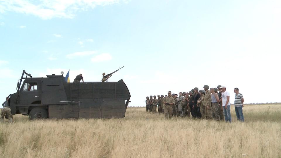 Ein ukrainisches Freiwilligen-Batallion