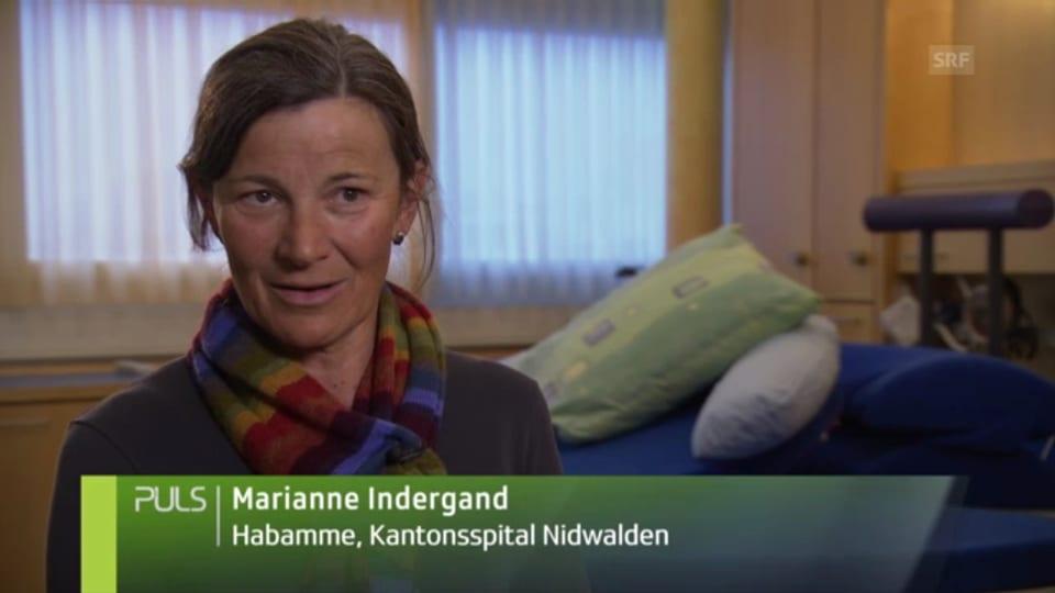 Marianne Indergand, Belegs-Hebamme Kantonsspital Nidwalden