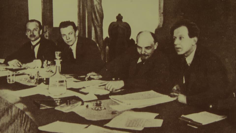 Platten und Lenin in Moskau (1919)
