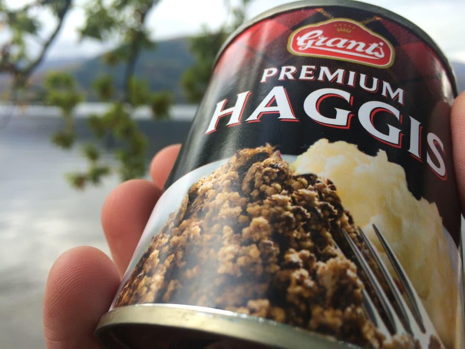 Eine Dose Haggis.