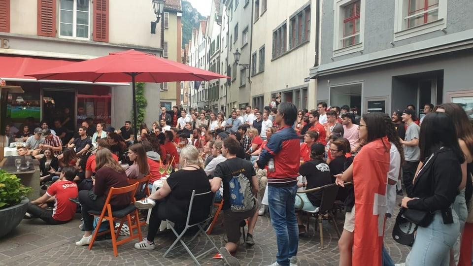 Il plaz datiers dil «Obertor» era emplenids cun fans da ballape.