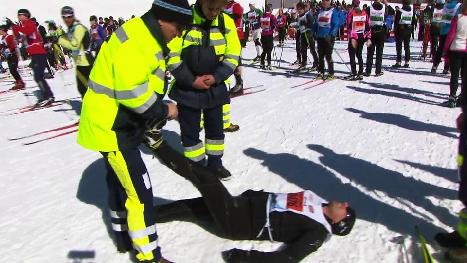 Mit dem Rennarzt am Engadiner Skimarathon