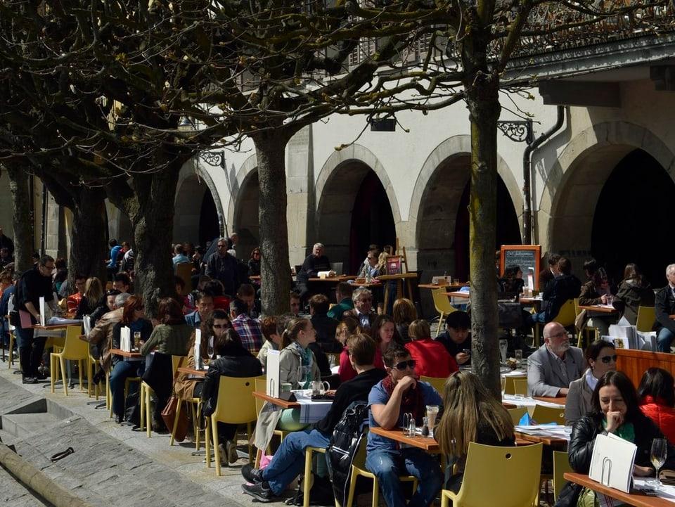 Gartencafés Luzern.