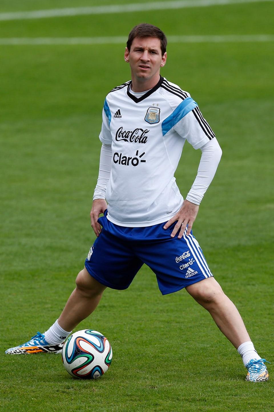 Lionel Messi auf dem Fussballplatz