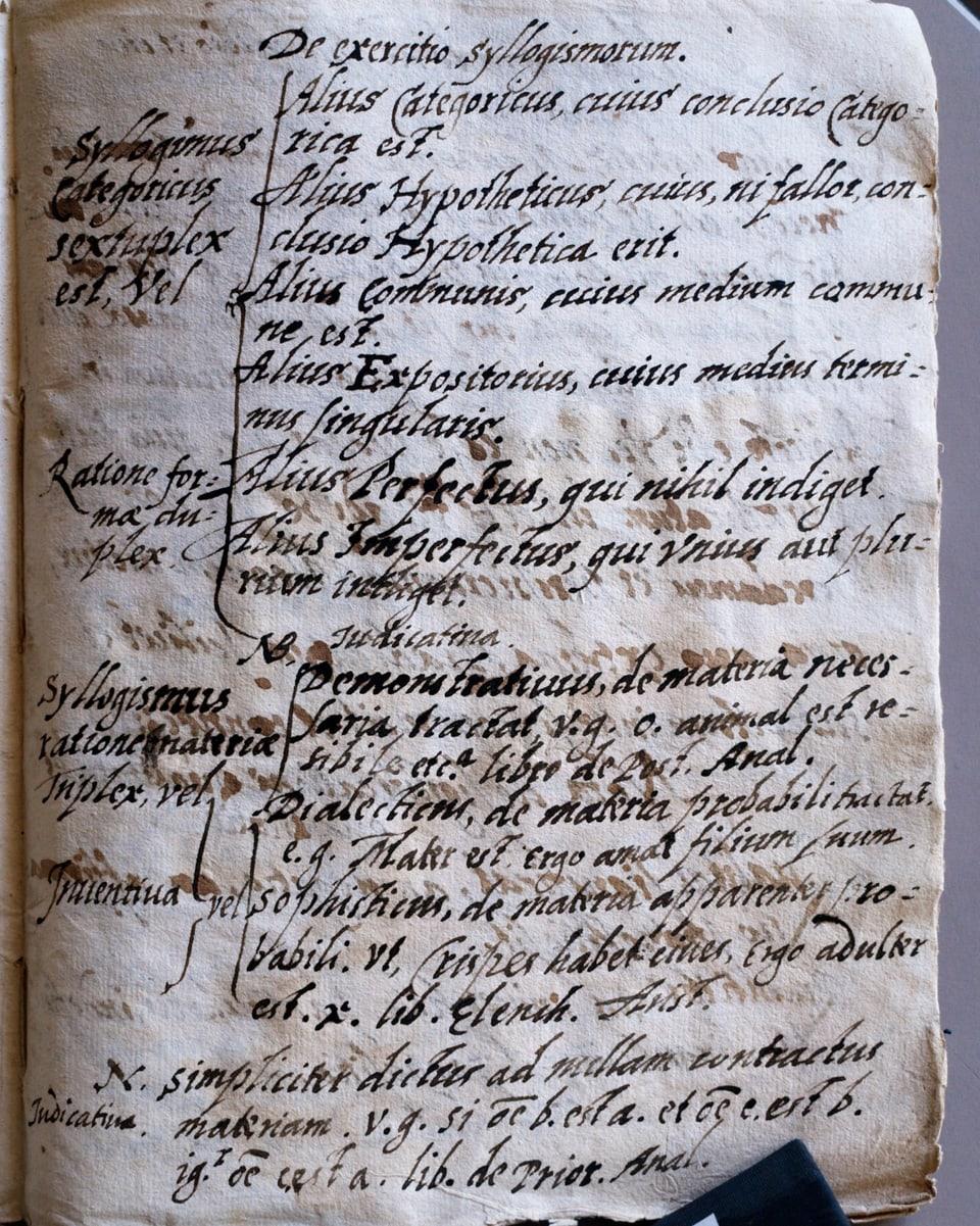 Decleraziun ed exempels per syllogissems sin las davosas paginas dal protocol notaril da Michel Angeli Florii.