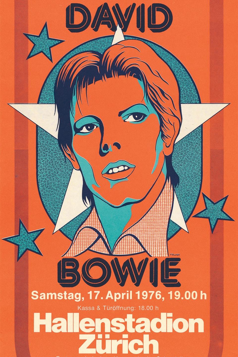 Konzertplakat von David Bowie