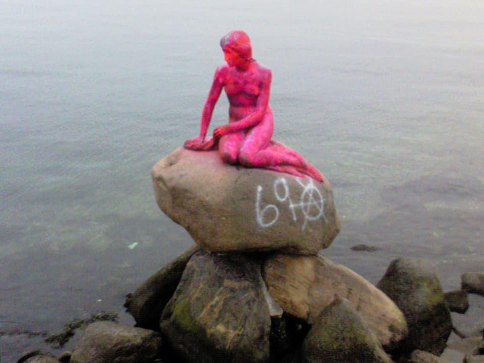 Meerjungfrau in Rosa.
