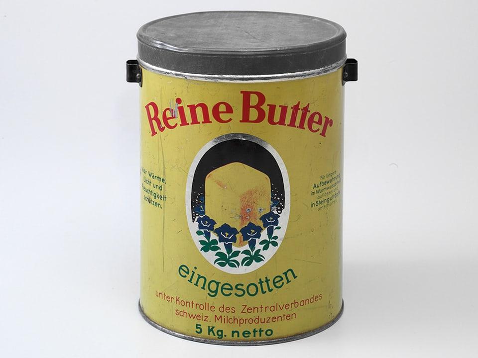 Dose mit eingesottener Butter.