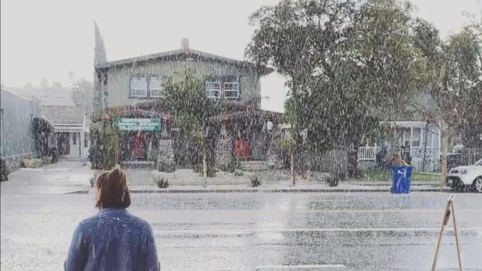 Winter in Los Angeles - «Richtig, das ist Schnee