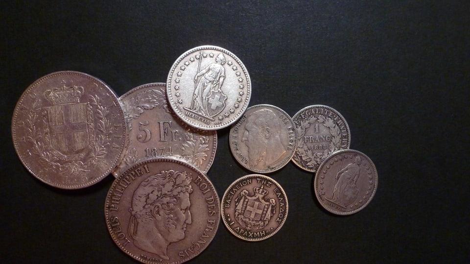 Munaidas d'argient da l'uniun monetara latina.