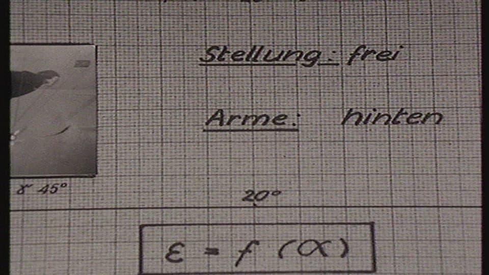 Notizen und Berechnungen des Flugzeugingenieurs Reinhard Straumann.