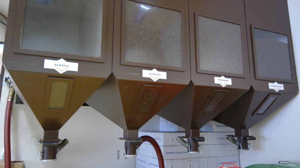 Las quatter sorts las pli popularas da Cafè Badilatti