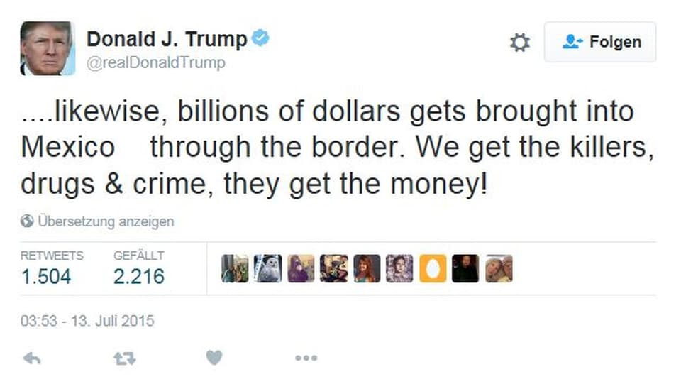 Donald Trump über Mexiko