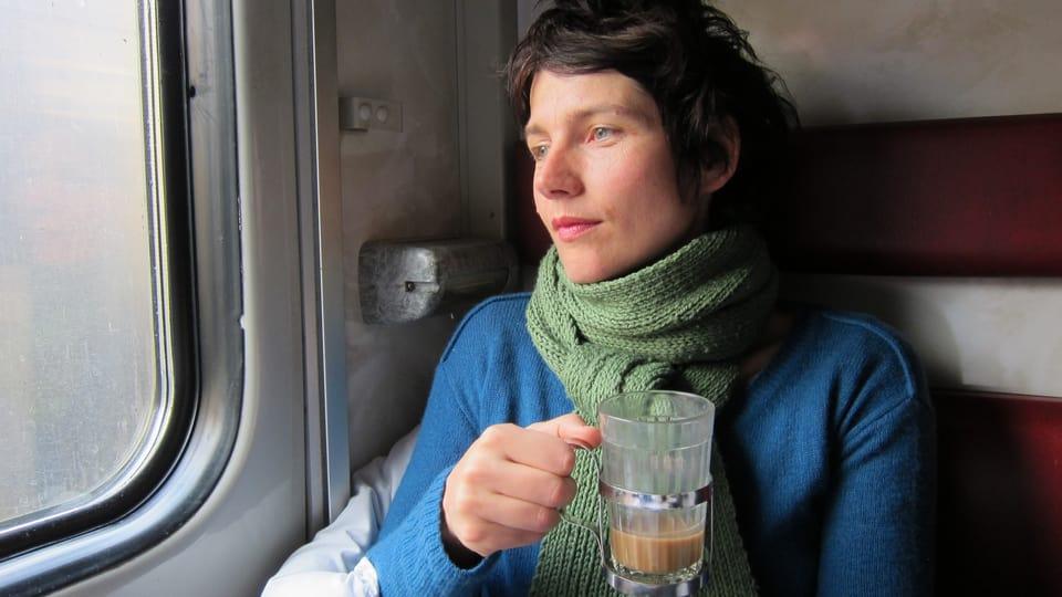 Kathrin Winzenried im Zug