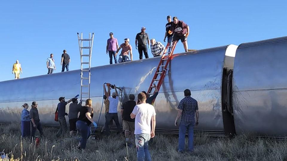 Zugunglück im US-Bundesstaat Montana