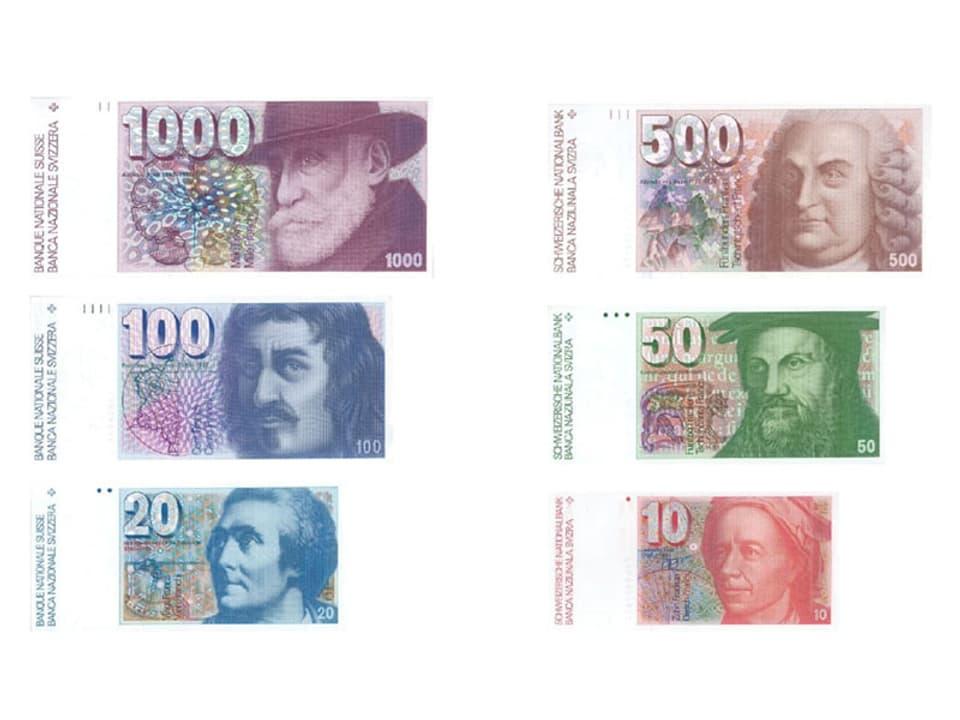 Serie alter Banknoten