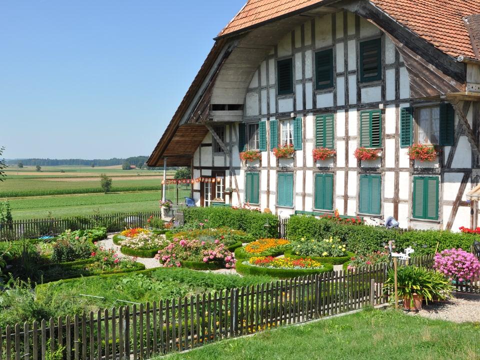 Ein Bauerngarten im Emmental (BE).