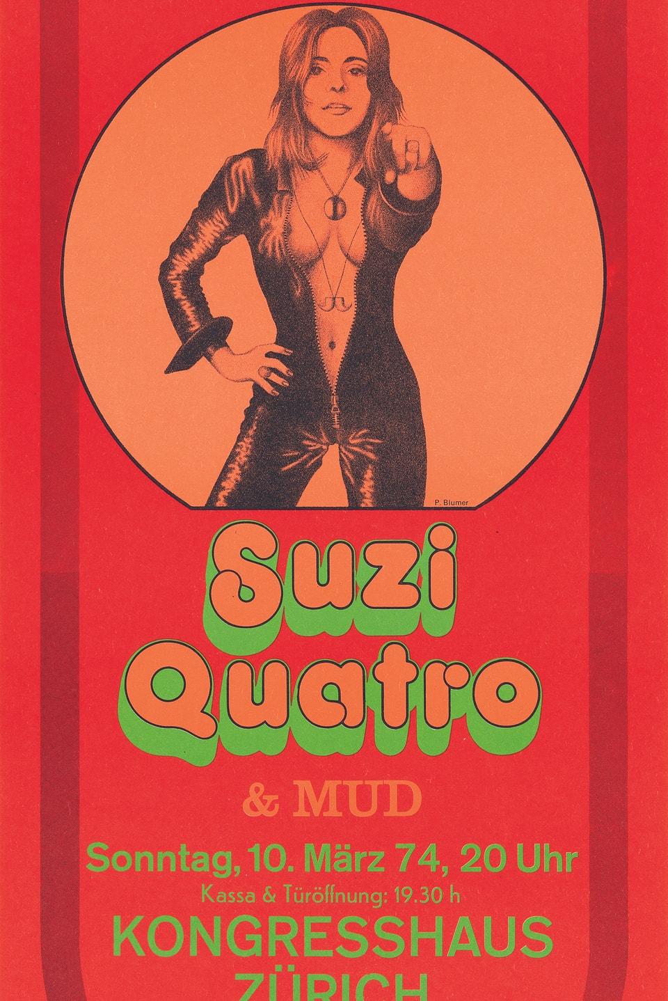 Konzertplakat von Suzi Quatro