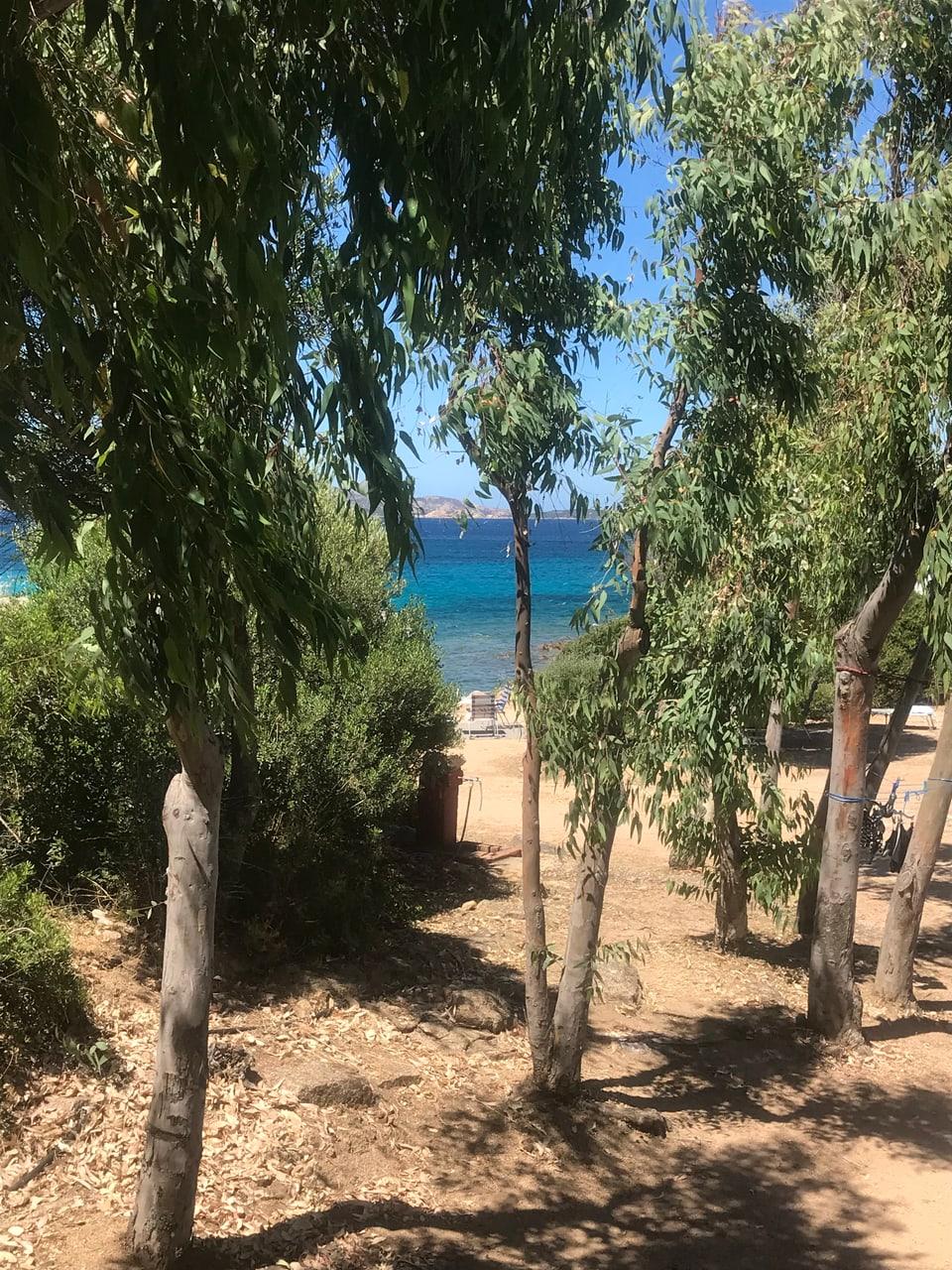 Vista sin la mar ord da nossa rulotta en Sardegna