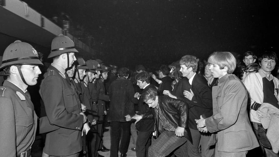 Il concert dals Rolling Stones il 1967 en il Hallenstadion a Turitg.