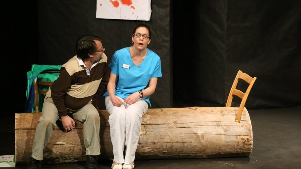 Scena or dal teater «La lingia blaua».