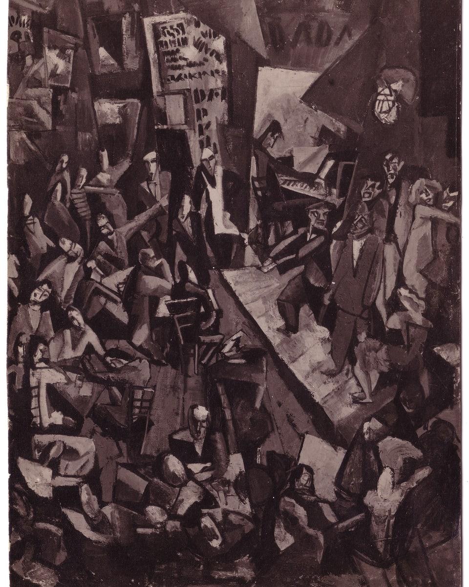 Reproducziun d'in maletg da Marcel Janco che represchenta las entschattas dal DADA e ses protagonists.