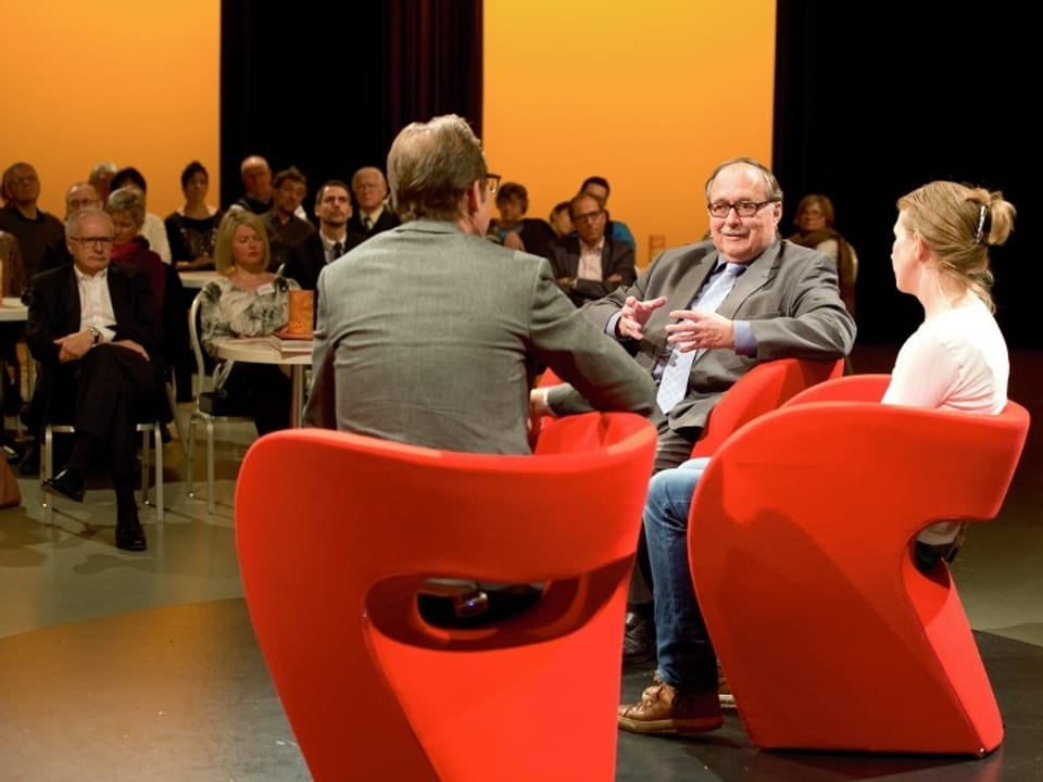 «Persönlich»-Runde vor Publikum.