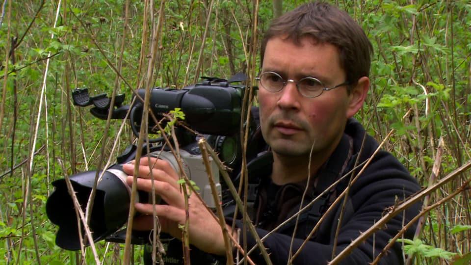 Vincent Chabloz an seiner Kamera