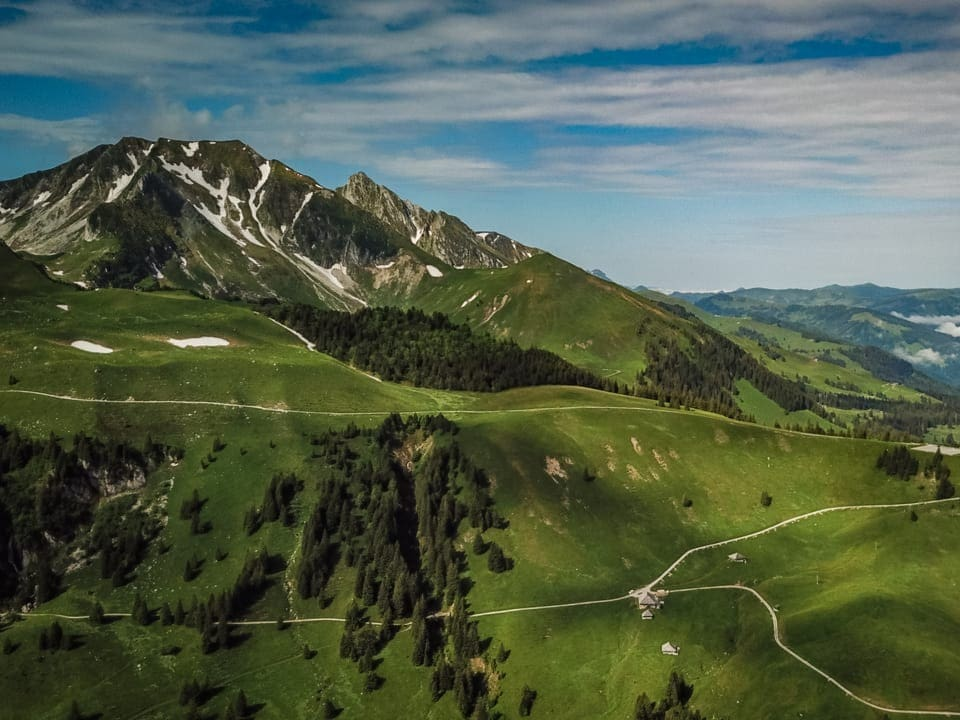 Die Alp Nünenen im Gantrisch-Gebiet