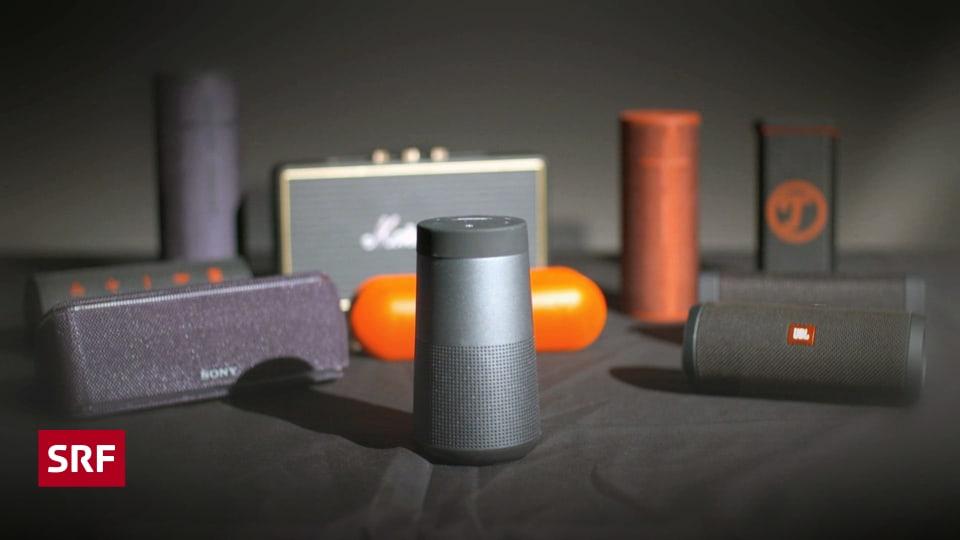 bluetooth lautsprecher im test satter sound f r unterwegs kassensturz espresso srf. Black Bedroom Furniture Sets. Home Design Ideas