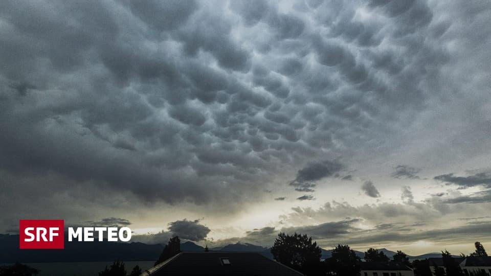 Hagel bis 5 Zentimeter - Heftige Unwetter zogen am Sonntag über die Schweiz