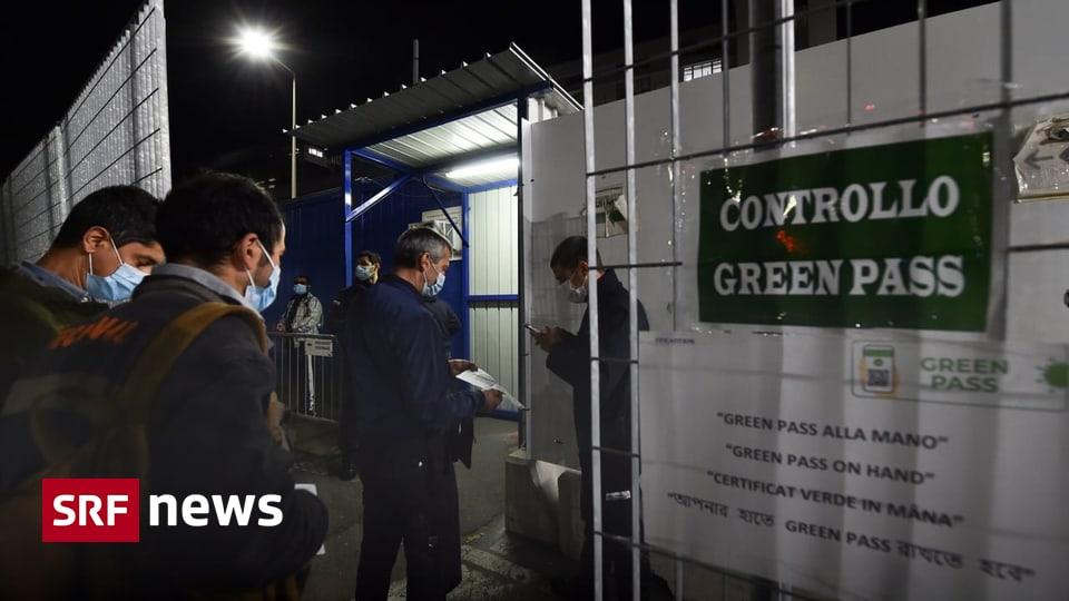 Coronamassnahmen in Italien - Proteste gegen «Green Pass» in italienischen Städten