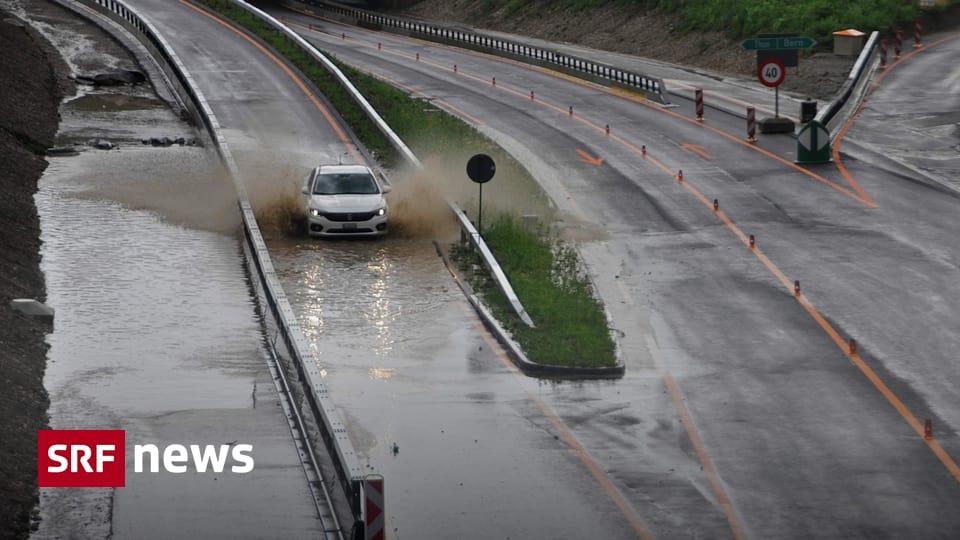Sturmwarnung - Sommergewitter bringen Überschwemmungen und Hagel