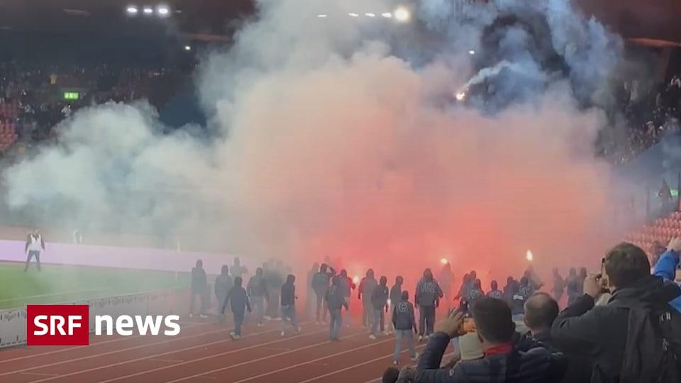Ausschreitungen im Stadion - «Mit dem Werfen von Pyros ist eine Grenze überschritten worden»