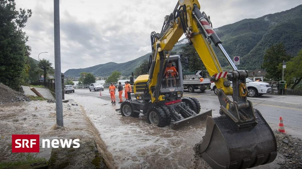 Starkregen in der Südschweiz - Unwetter im Tessin sorgen für Bahnstreckenunterbrüche