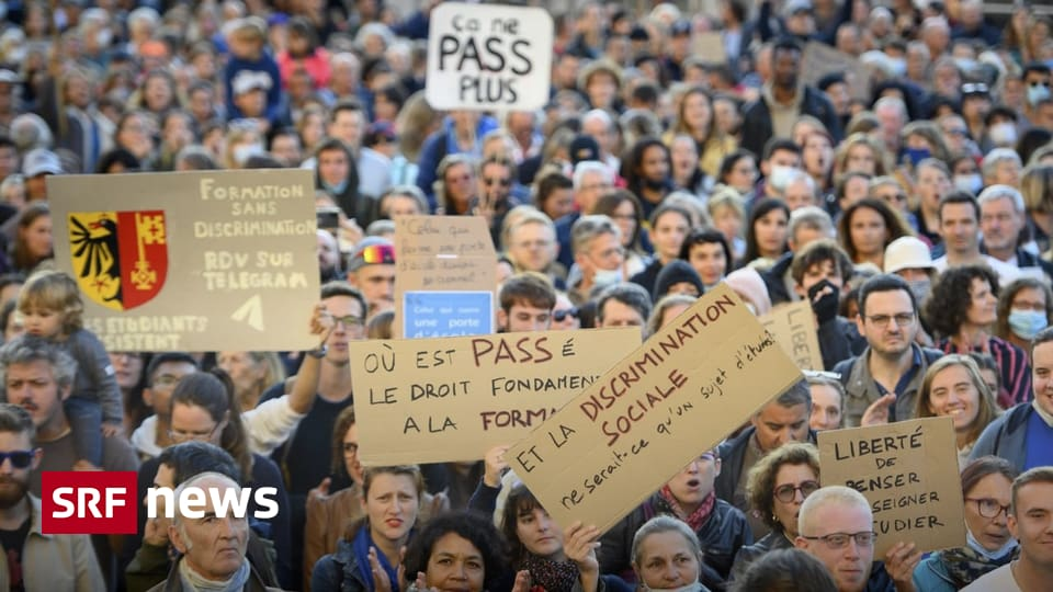 Das Neueste zur Coronakrise - 2000 Menschen demonstrieren in Lausanne gegen Zertifikatspflicht